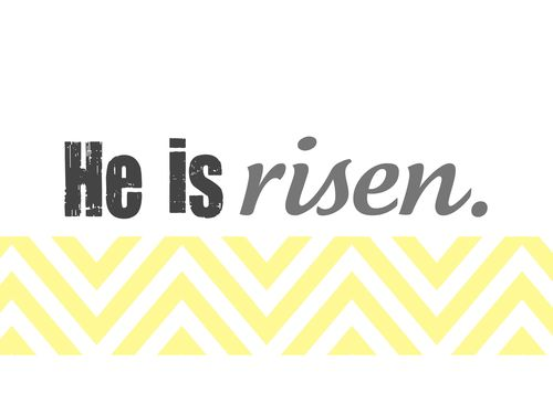 He is risen yellow